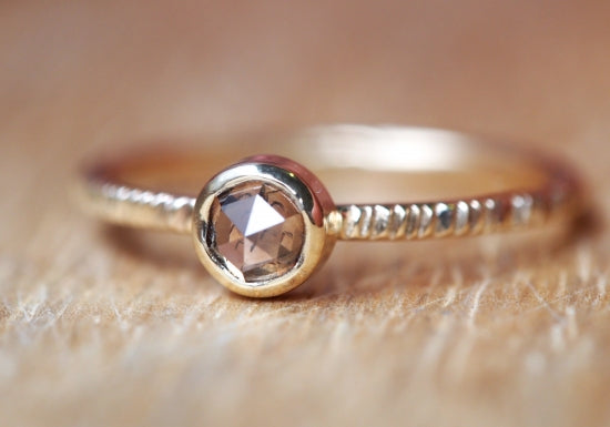 Champagne Inclusion Diamond Ring