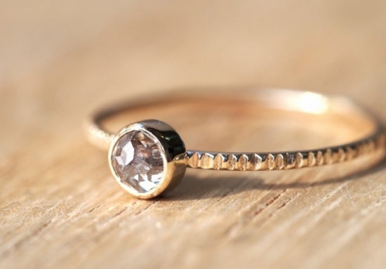 Mauve Dusk Diamond Ring