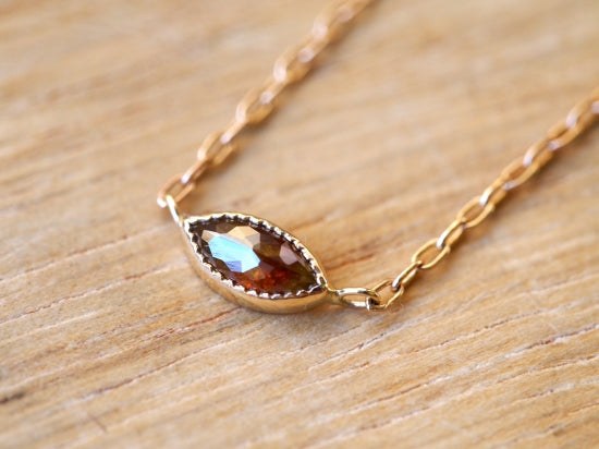 Rose Brown Marquise Diamond Necklace