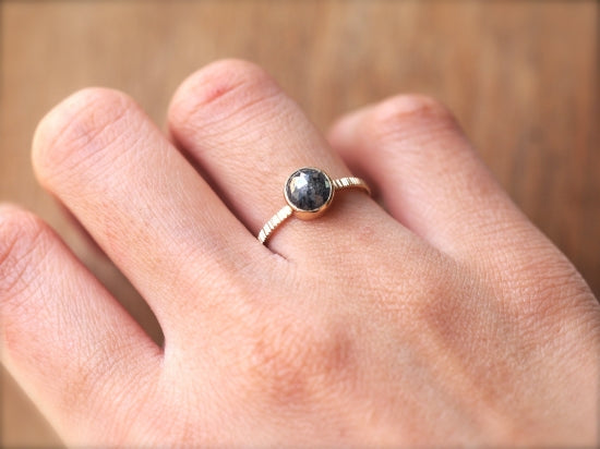 Charcoal Gray Diamond Ring