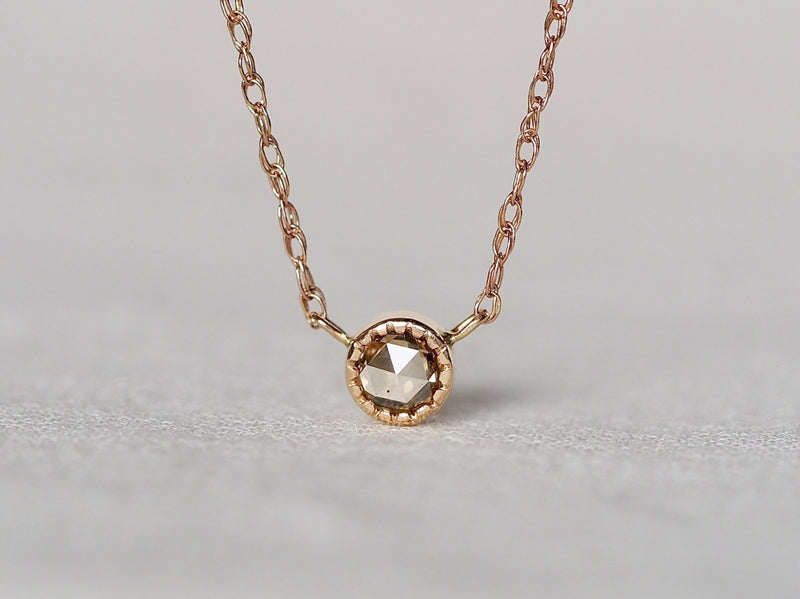 Champagne Old Rose Cut Diamond Necklace