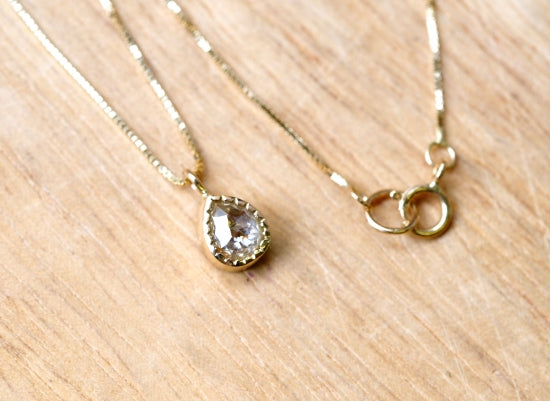 Citrus Mist Drop Diamond Necklace