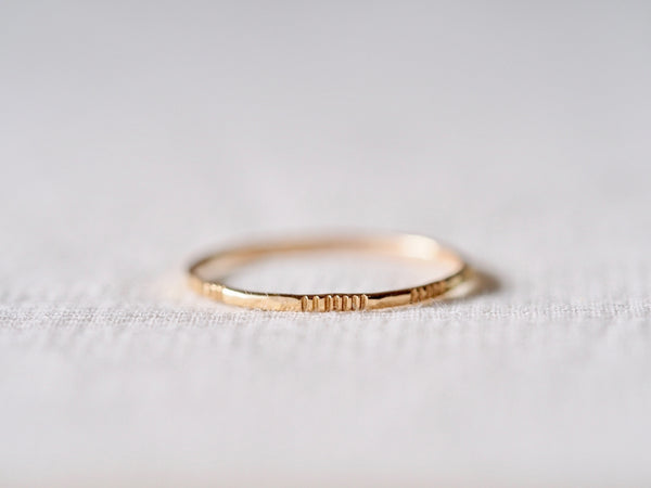In Turn Texture Ring