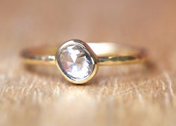 Clear Water Oval Diamond Ring