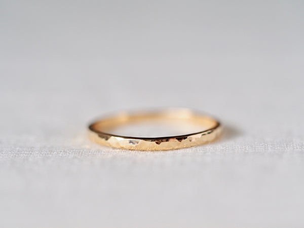 Hammered Square Ring
