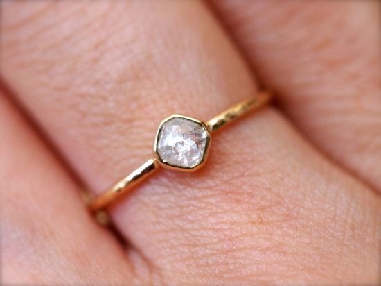 Icy Snow Diamond Ring