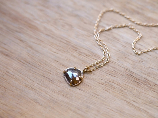 Hazel Gray Drop Diamond Necklace