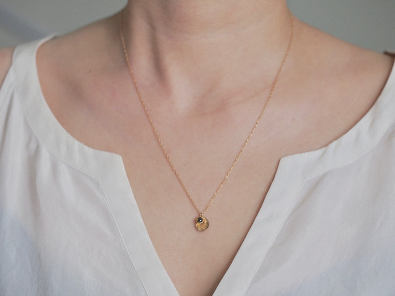 Layered Luna Necklace Cognac Brown