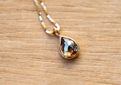 Spice Brown Drop Diamond Necklace