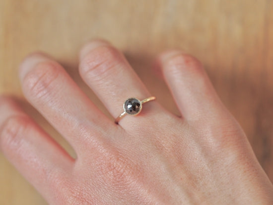 Black Stratum Diamond Ring