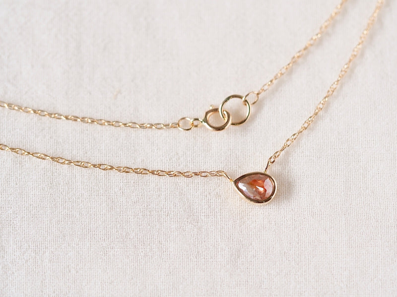 Vermilion Drop Diamond Necklace