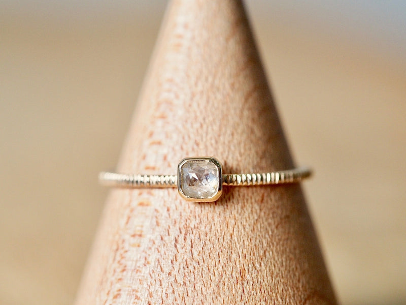 Baby Square Diamond Ring