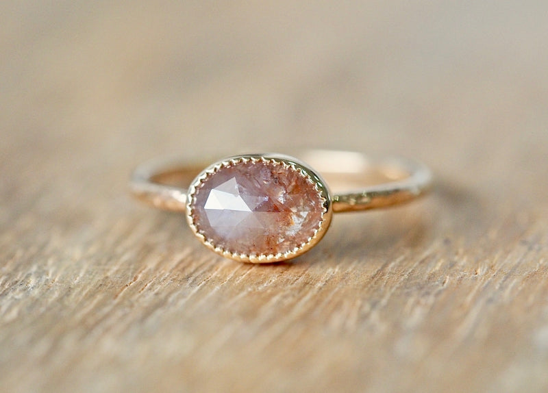 Smoky Pink Diamond Ring
