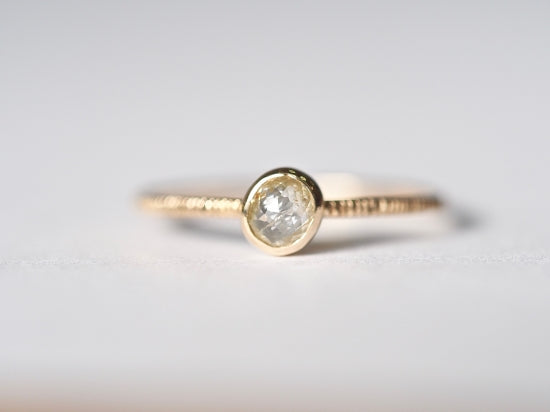 Sun Touched Diamond Ring