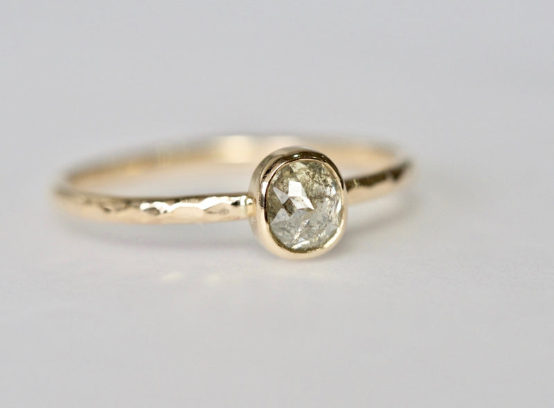 Frost Leaf Diamond Ring