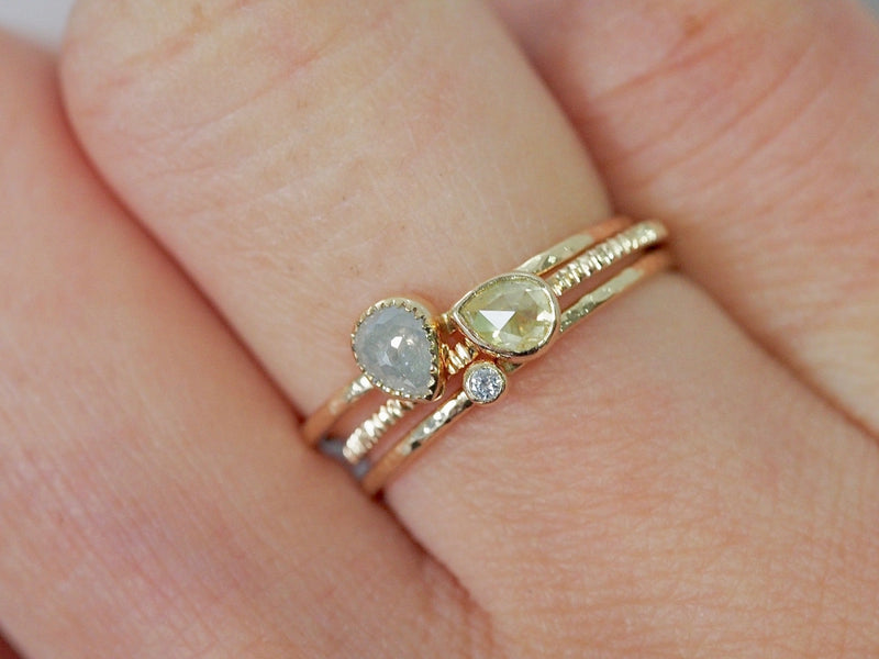 Lemonade Baby Drop Diamond Ring