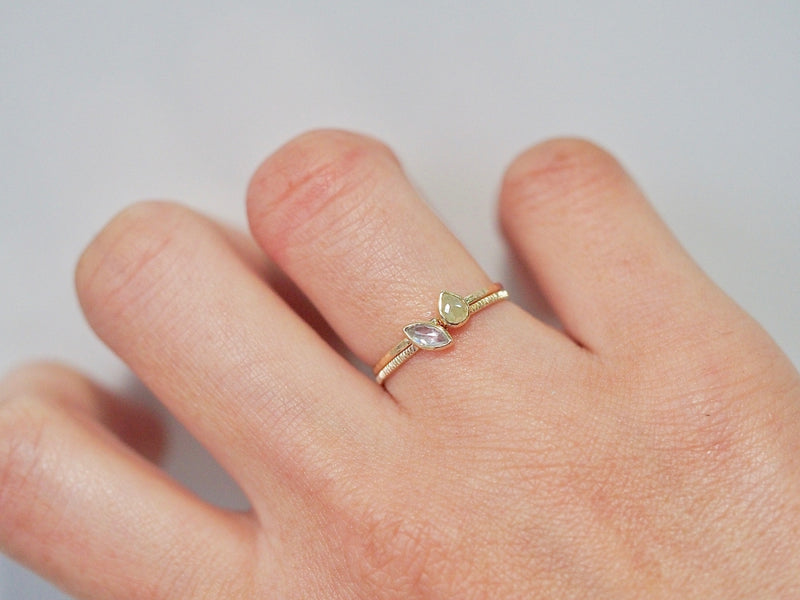 Floating Feather Diamond Ring