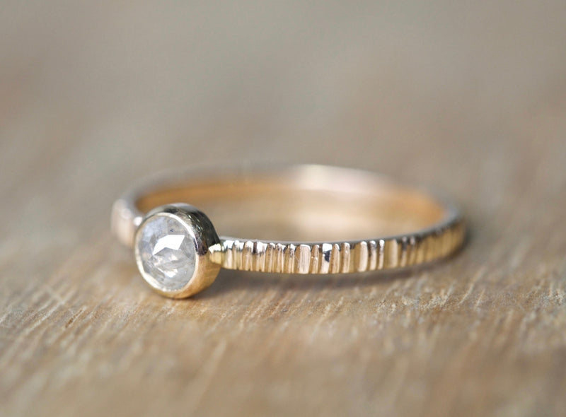 Natural White diamond Ring