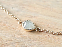Sand Beige Drop Diamond Bracelet