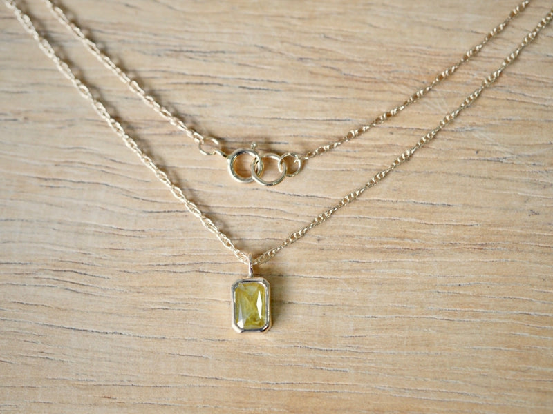 Mimosa Rectangle Diamond Necklace