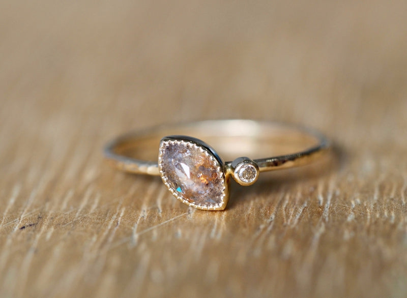 Silver Sunset Diamond Ring