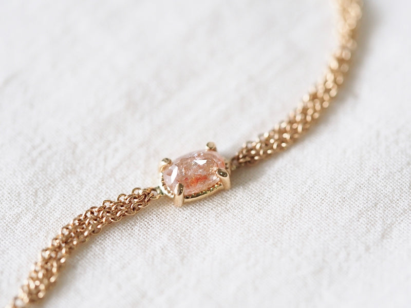 Pink Oval Diamond Bracelet