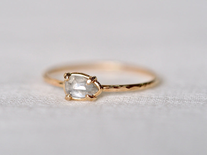 Teardrop Diamond Prong Ring