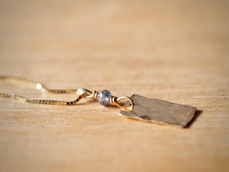 Fragment Rectangle Necklace