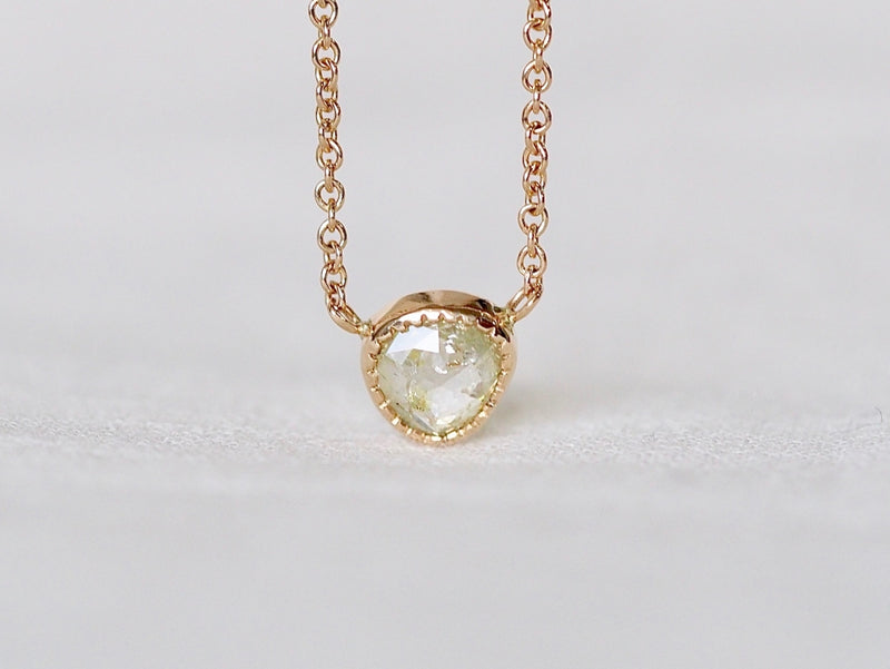 Free Form Light Yellow Diamond Necklace