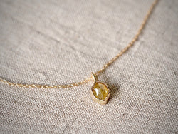 Yellow Hexagon Diamond Necklace