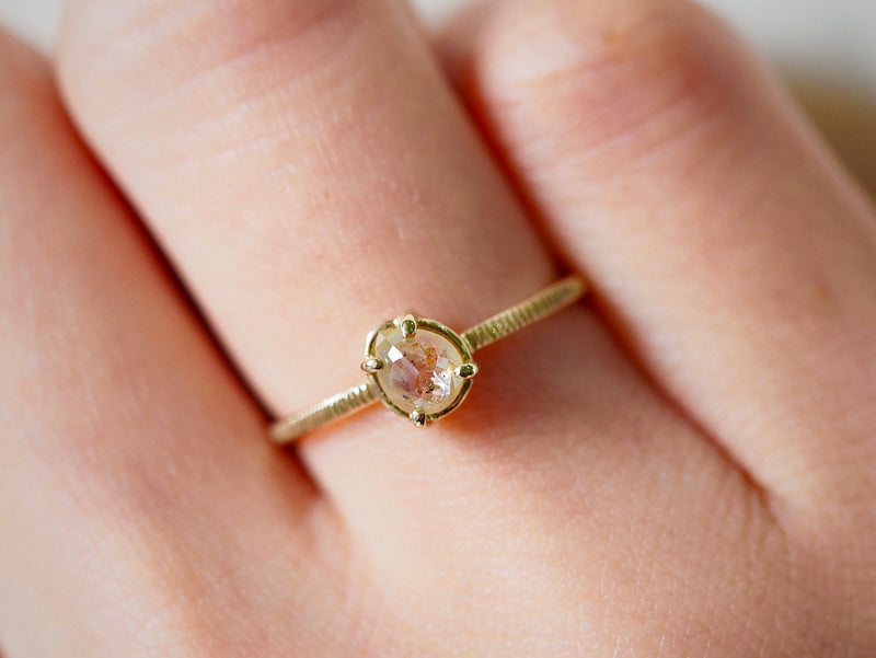 Anemone Drop Diamond Ring