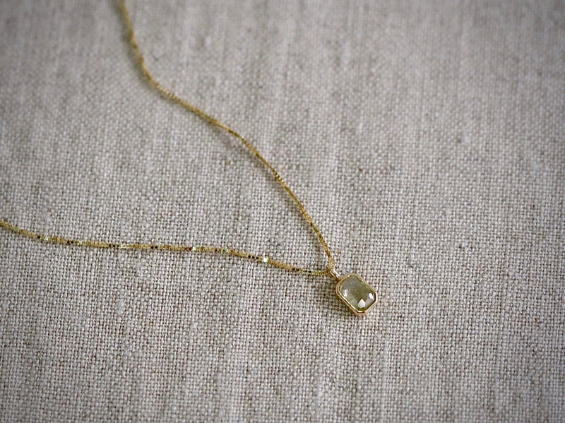 Sage Green Diamond Necklace