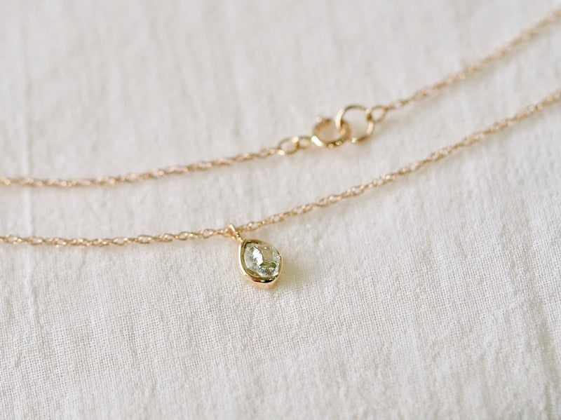 Aqua Drop Diamond Necklace 02