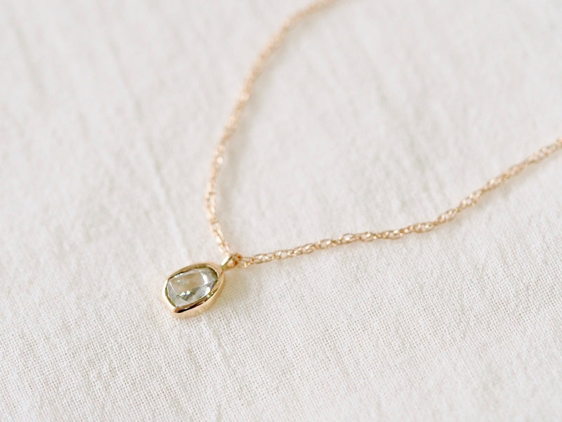 Aqua Drop Diamond Necklace