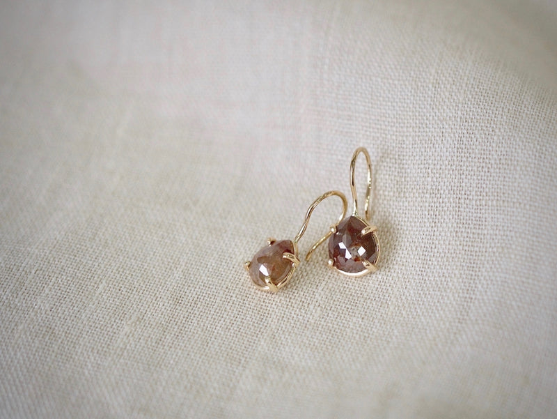 Large Drop Diamond Asymmetry ピアス
