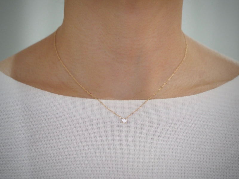 In The Air Diamond Slice Necklace 02
