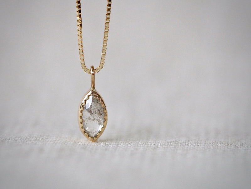 Silent Silver Diamond Necklace