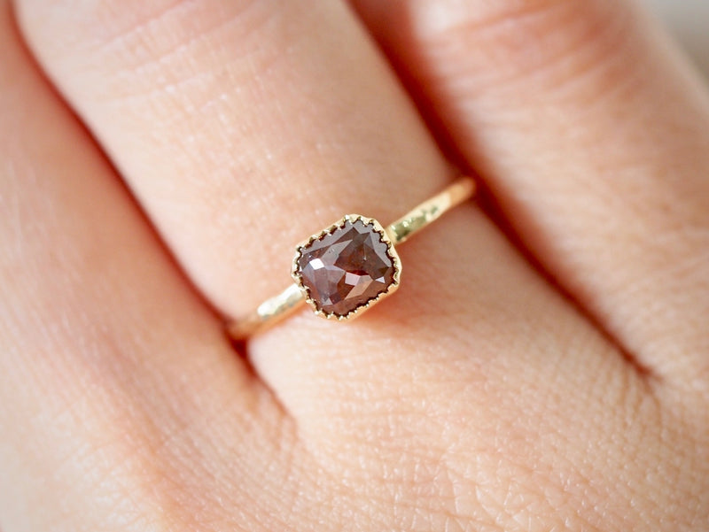 Cocoa Brown Diamond Ring