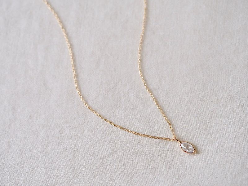 White Marquise Diamond Necklace
