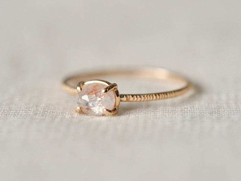 Pink Veil Diamond Ring