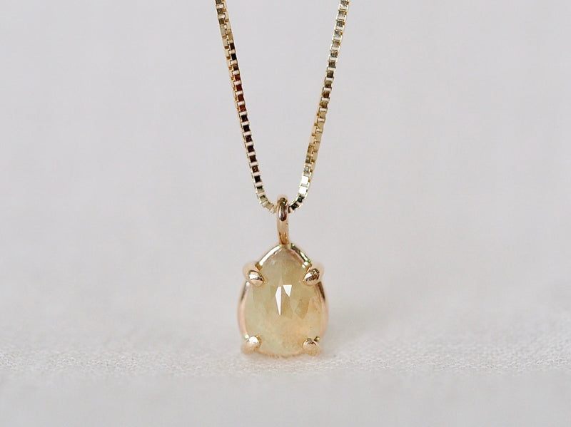 Ecru Drop Diamond Necklace