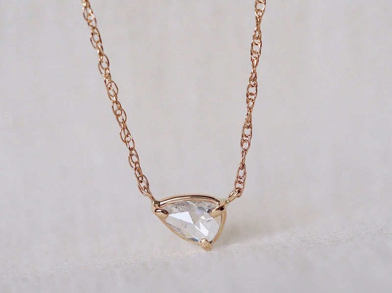 Reflection Drop Diamond Necklace