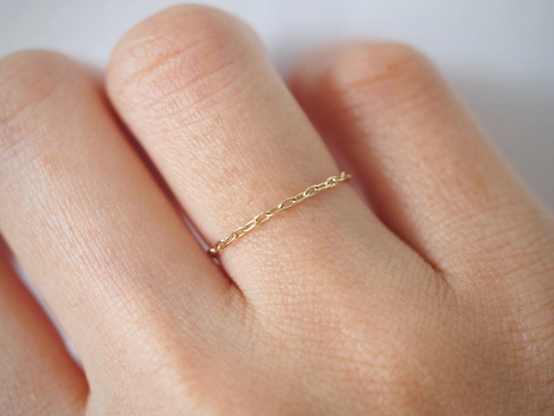 Self Love Ring - oval chain