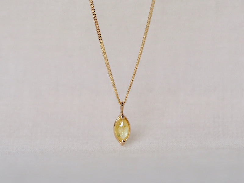 Yellow Petal Diamond Necklace