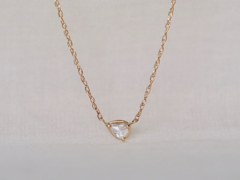 Drop Rose Diamond Necklace