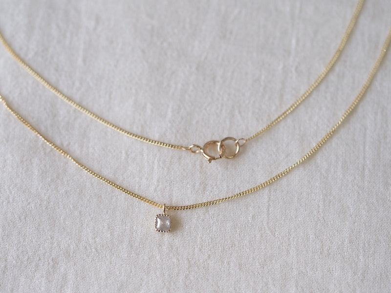 Baby Square Necklace Milk Sky