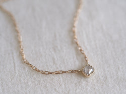 Baby Square Necklace Silver Mist