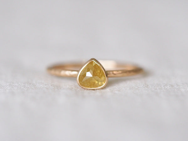 Yellow Jasmine Marron Diamond Ring