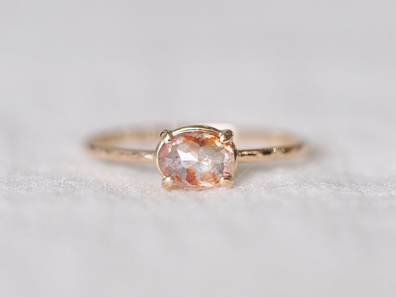 Clear Red Diamond Ring