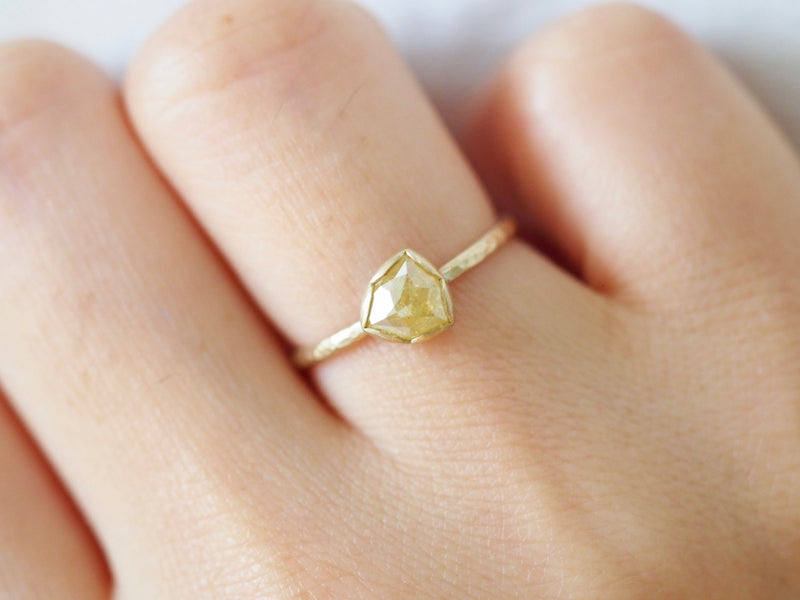 Yellow Pinwheel Diamond Ring